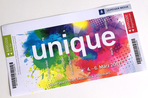Eintrittskarte zu Unique 2017